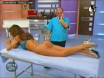 Argentina celebrity Monica Guido ass up in thong