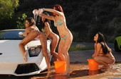 Kirsten Price & Madison Ivy & Monique Alexander & Rachel Starr - Carwash Day (po